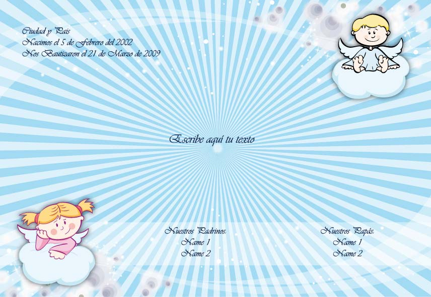 Imagenes De Invitaciones Para Bautizo